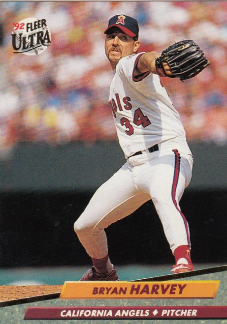 1992 Ultra #27 Bryan Harvey VG California Angels