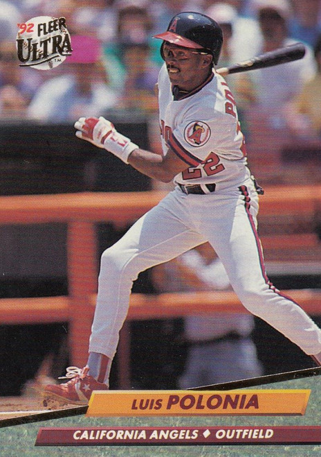 1992 Ultra #29 Luis Polonia VG California Angels