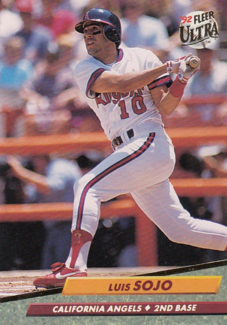 1992 Ultra #31 Luis Sojo VG California Angels