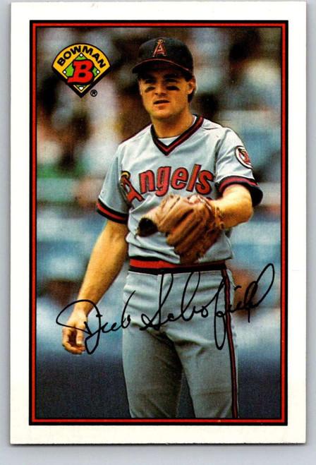 1989 Bowman #46 Dick Schofield VG California Angels