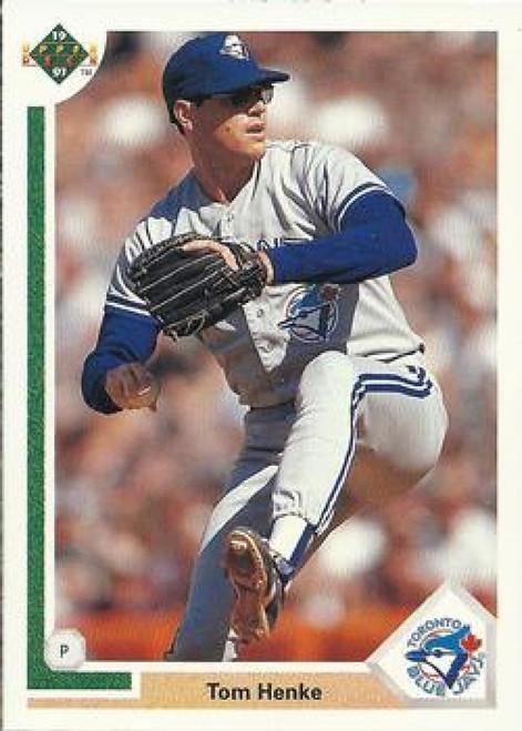 1991 Upper Deck #149 Tom Henke VG Toronto Blue Jays