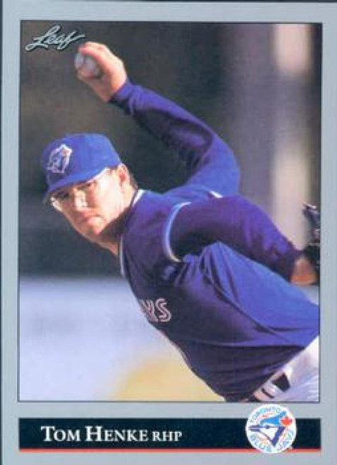1992 Leaf #159 Tom Henke VG Toronto Blue Jays