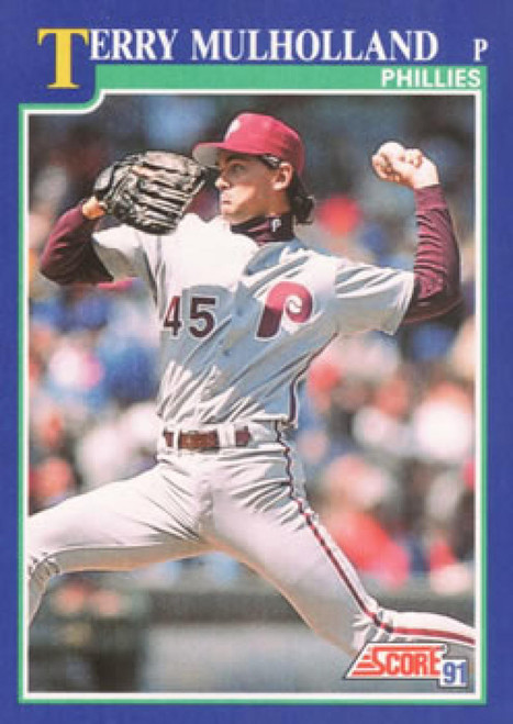 1991 Score #33 Terry Mulholland VG Philadelphia Phillies
