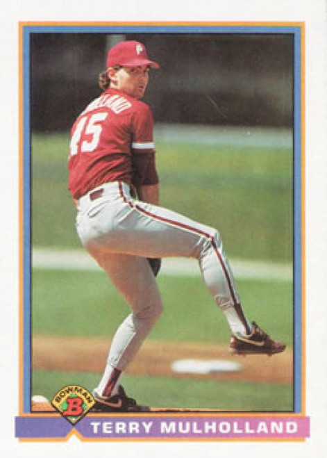 1991 Bowman #504 Terry Mulholland VG Philadelphia Phillies