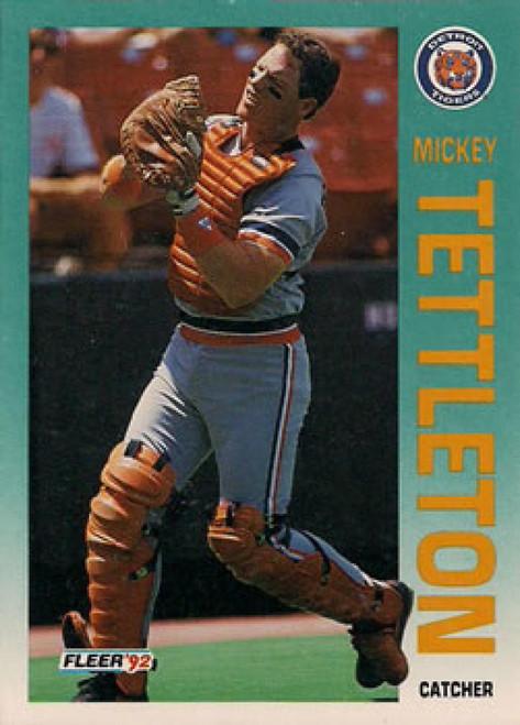 1992 Fleer #147 Mickey Tettleton VG Detroit Tigers
