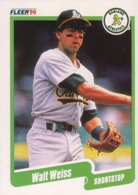 1990 Fleer #22 Walt Weiss VG Oakland Athletics