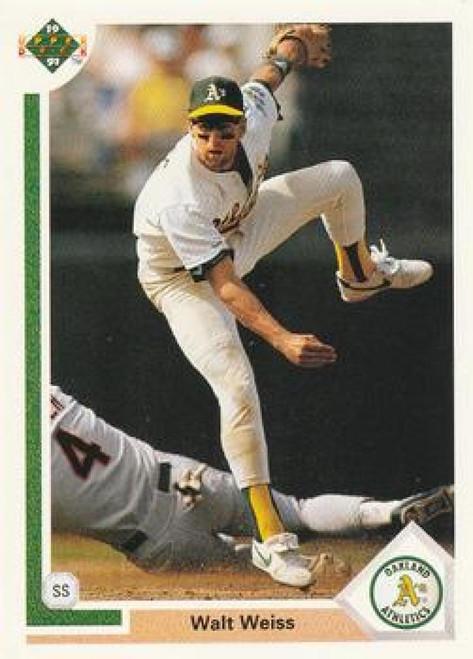 1991 Upper Deck #192 Walt Weiss VG Oakland Athletics