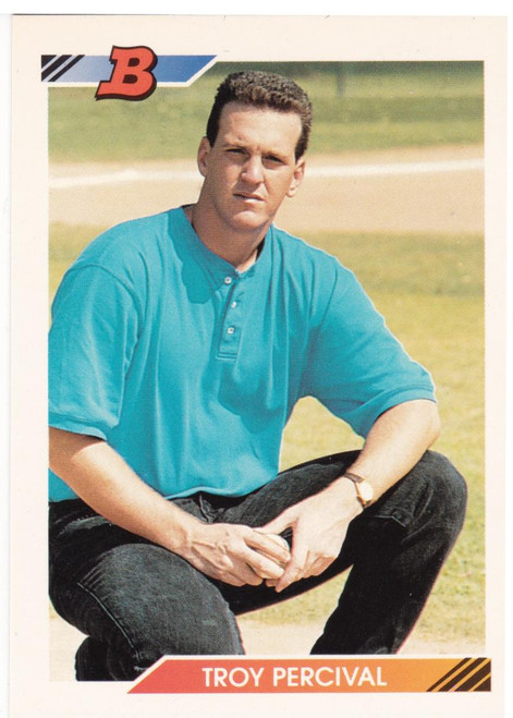 1992 Bowman #290 Troy Percival VG RC Rookie California Angels