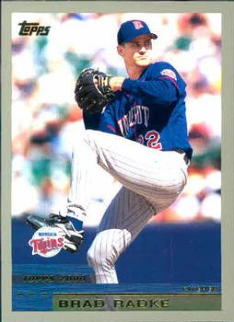 2000 Topps #14 Brad Radke VG Minnesota Twins