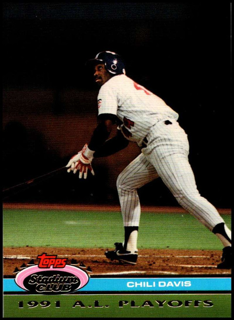 1992 Stadium Club Dome #32 Chili Davis VG Minnesota Twins