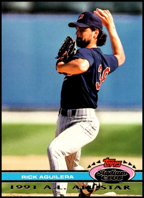 1992 Stadium Club Dome #3 Rick Aguilera VG Minnesota Twins
