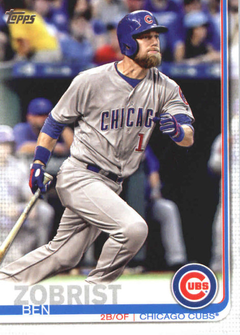 2019 Topps #9 Ben Zobrist NM-MT Chicago Cubs
