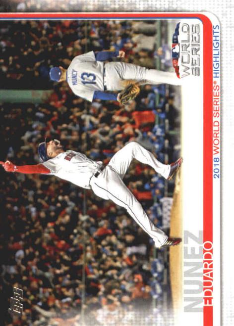 2019 Topps #3 Eduardo Nunez NM-MT Boston Red Sox