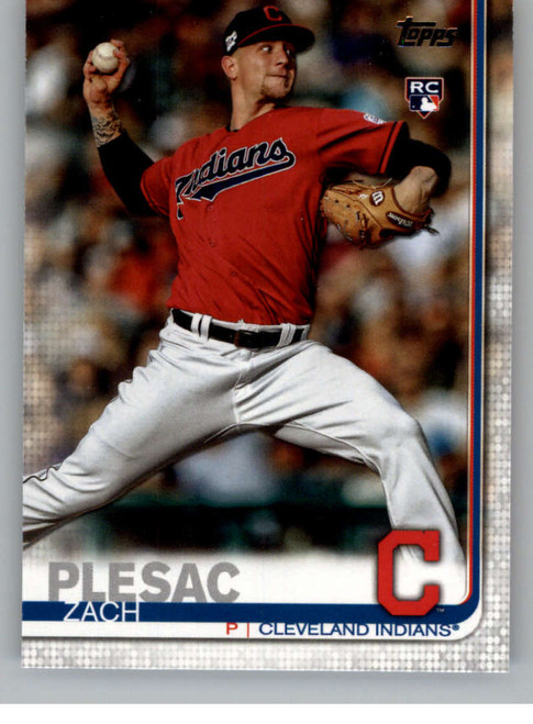 2019 Topps Update #US19 Zach Plesac NM-MT RC Rookie Cleveland Indians