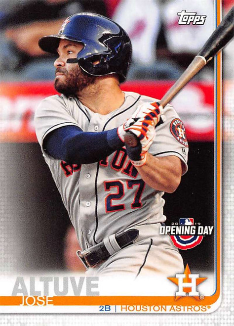 2019 Topps Opening Day #41 Jose Altuve NM-MT Houston Astros