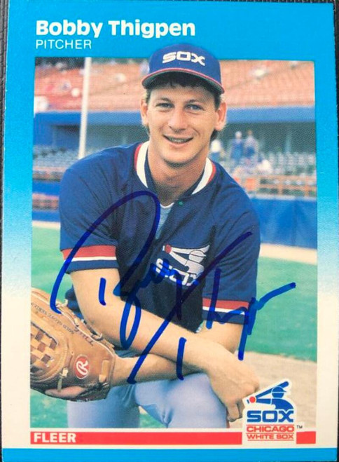 Bobby Thigpen Autographed 1987 Fleer #507