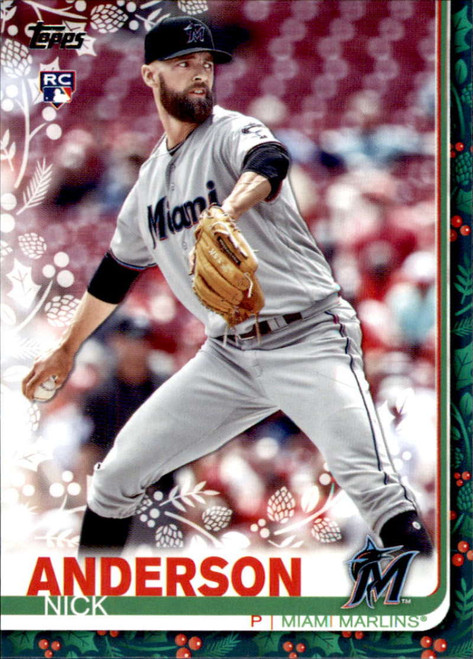 2019 Topps Holiday #HW12 Nick Anderson NM-MT  RC Rookie Miami Marlins