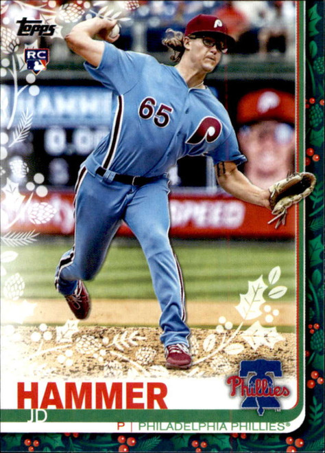 2019 Topps Holiday #HW7 JD Hammer NM-MT  RC Rookie Philadelphia Phillies