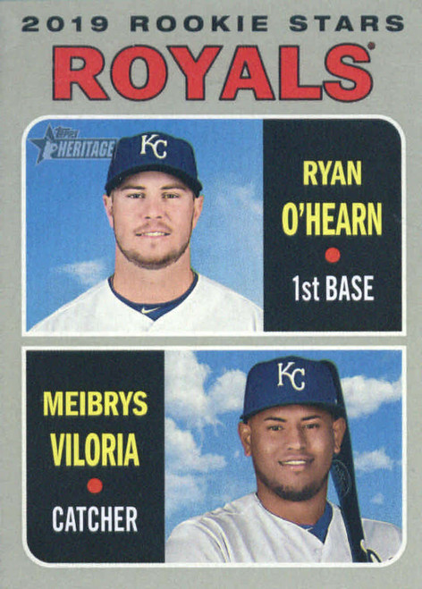 2019 Topps Heritage #241 Meibrys Viloria/Ryan O'Hearn NM-MT  RC Rookie Kansas City Royals