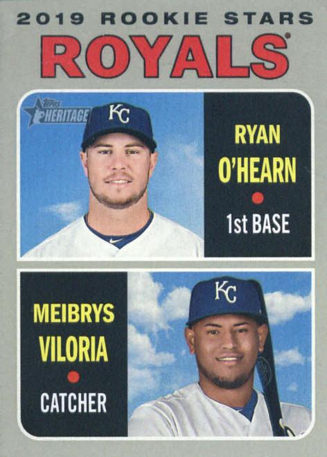 2019 Topps Heritage #241 Meibrys Viloria/Ryan O'Hearn NM-MT  RC Rookie Kansas City Royals