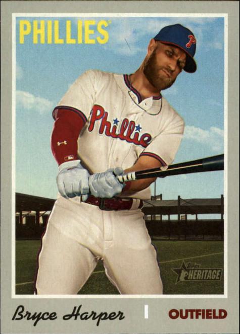 2019 Topps Heritage High Number #534 Bryce Harper NM-MT Philadelphia Phillies