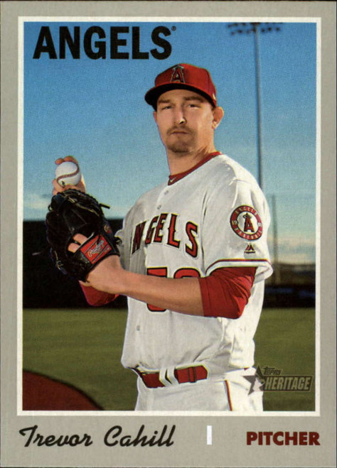 2019 Topps Heritage High Number #536 Trevor Cahill NM-MT Los Angeles Angels