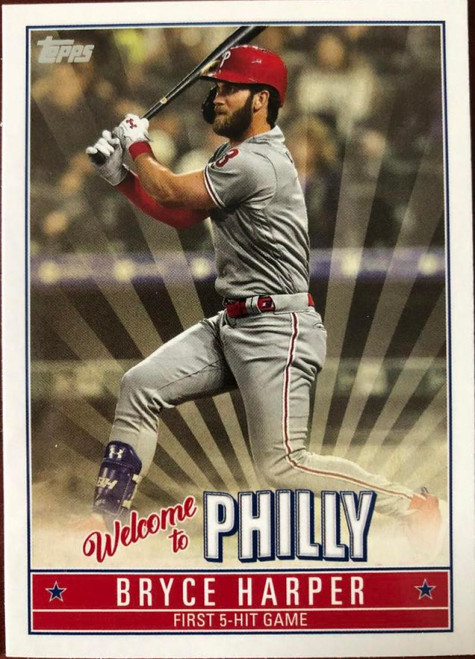SOLD 79863 2019 Topps Update Bryce Harper Highlights #BH-15 Bryce Harper NM-MT  Philadelphia Phillies