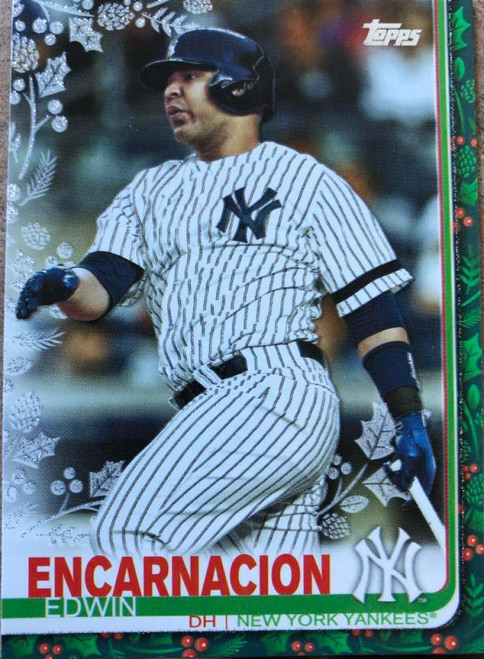 2019 Topps Holiday Metallic #HW111 Edwin Encarnacion NM-MT New York Yankees