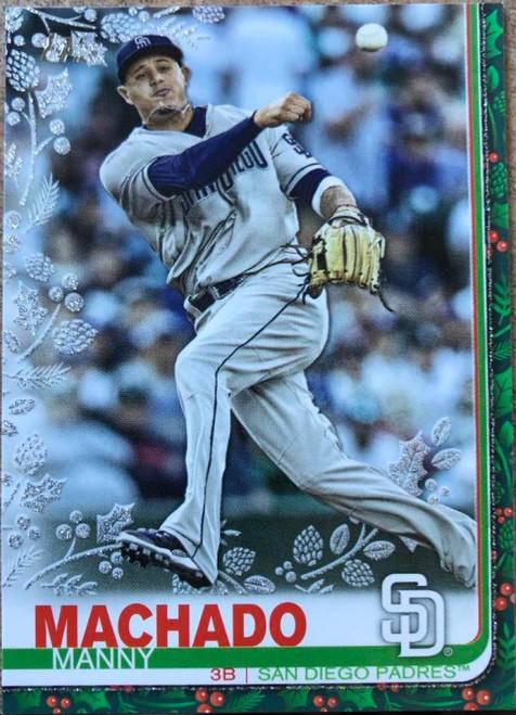 SOLD 78918 2019 Topps Holiday Metallic #HW95 Manny Machado NM-MT San Diego Padres