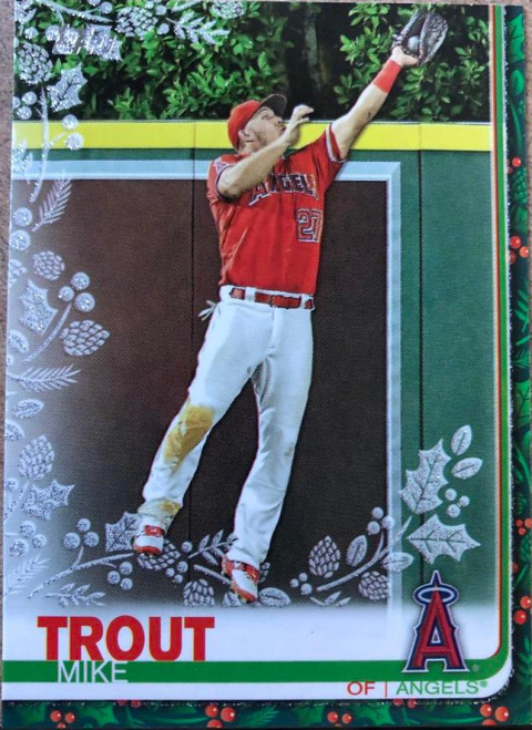 2019 Topps Holiday Metallic #HW31 Mike Trout NM-MT Los Angeles Angels