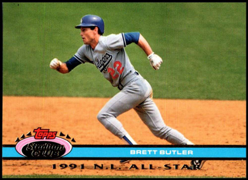 1992 Stadium Club Dome #23 Brett Butler VG Los Angeles Dodgers