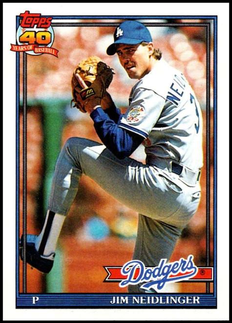 1991 Topps #39 Jim Neidlinger VG RC Rookie Los Angeles Dodgers