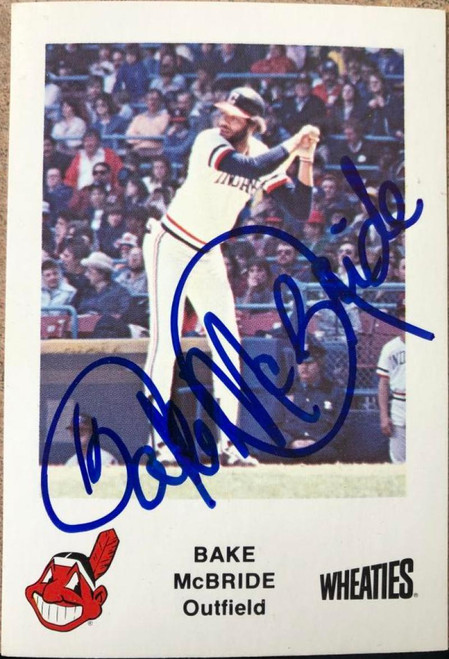 Bake McBride Autographed 1983 Wheaties Cleveland Indians #NNO