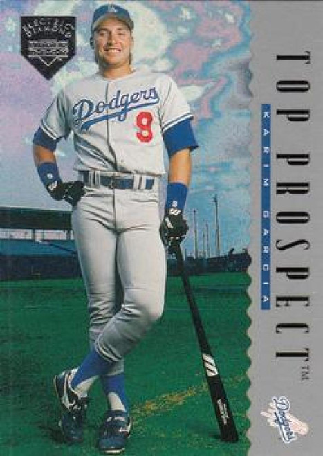 1995 Upper Deck Electric Diamond #9 Karim Garcia VG RC Rookie Los Angeles Dodgers