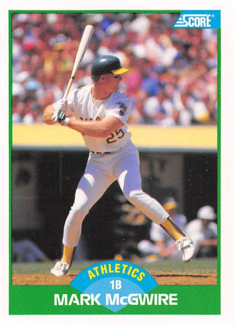 1989 Score #3 Mark McGwire VG Oakland Athletics