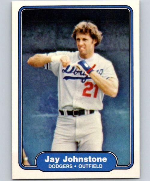 1982 Fleer #10 Jay Johnstone VG Los Angeles Dodgers