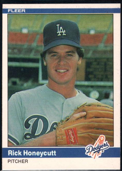 1984 Fleer #101 Rick Honeycutt VG Los Angeles Dodgers