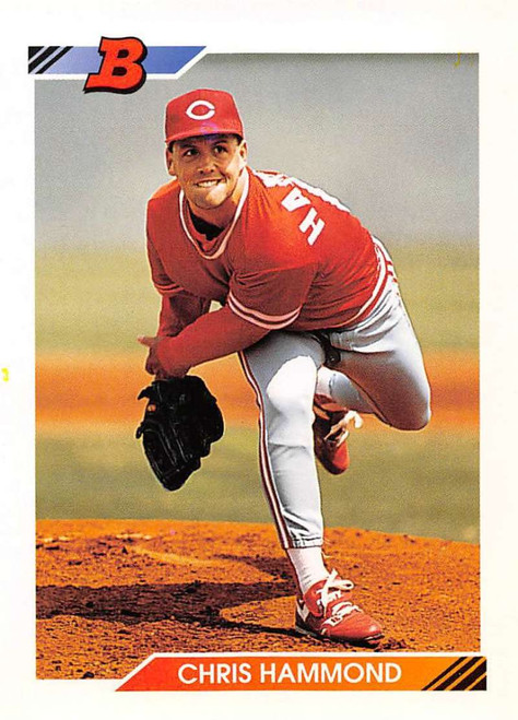 1992 Bowman #328 Chris Hammond VG Cincinnati Reds
