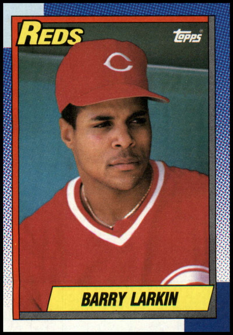 1990 Topps #10 Barry Larkin VG Cincinnati Reds
