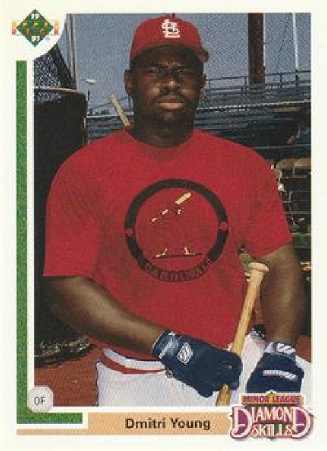 1991 Upper Deck Final Edition #7F Dmitri Young NM-MT RC Rookie St. Louis Cardinals