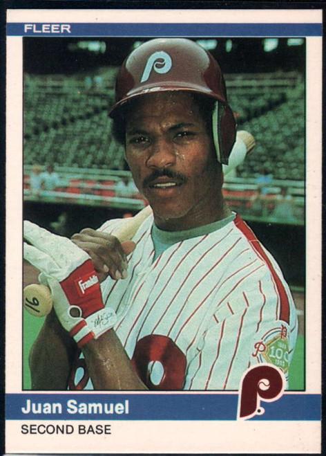 1984 Fleer #47 Juan Samuel VG RC Rookie Philadelphia Phillies