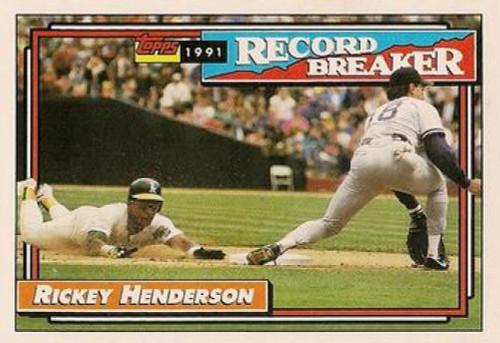 1992 Topps #2 Rickey Henderson RB VG Oakland Athletics