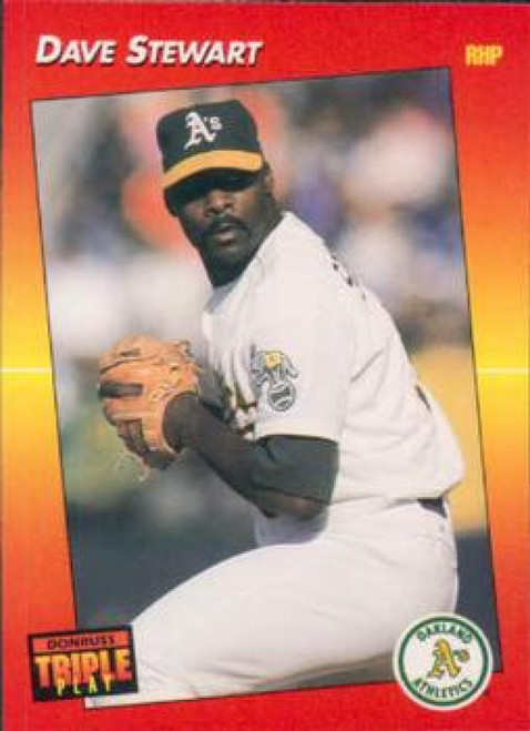 1992 Triple Play #88 Dave Stewart VG Oakland Athletics