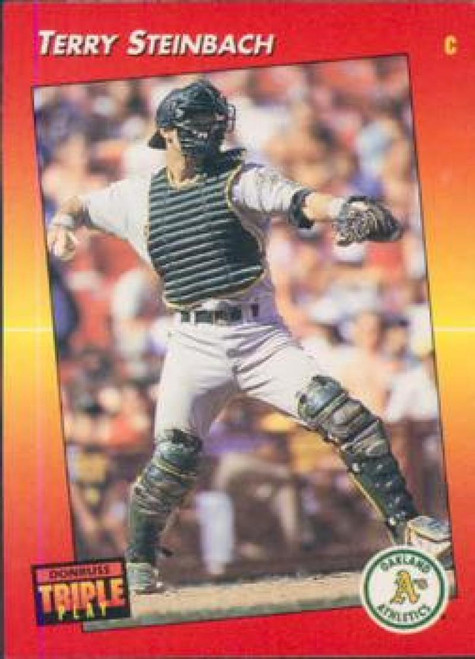 1992 Triple Play #10 Terry Steinbach VG Oakland Athletics