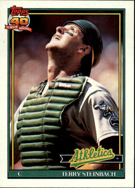 1991 Topps #625 Terry Steinbach VG Oakland Athletics