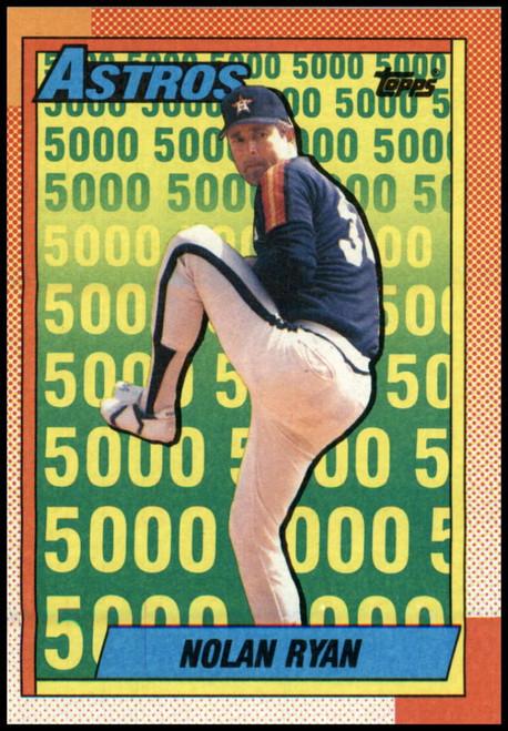 1990 Topps #4 Nolan Ryan VG Houston Astros