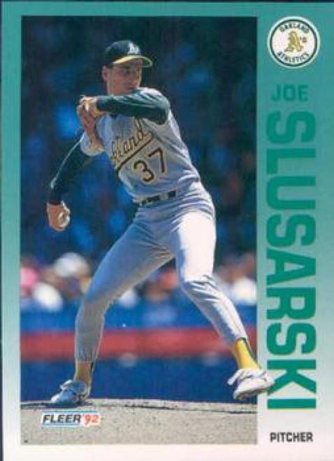 1992 Fleer #266 Joe Slusarski VG Oakland Athletics