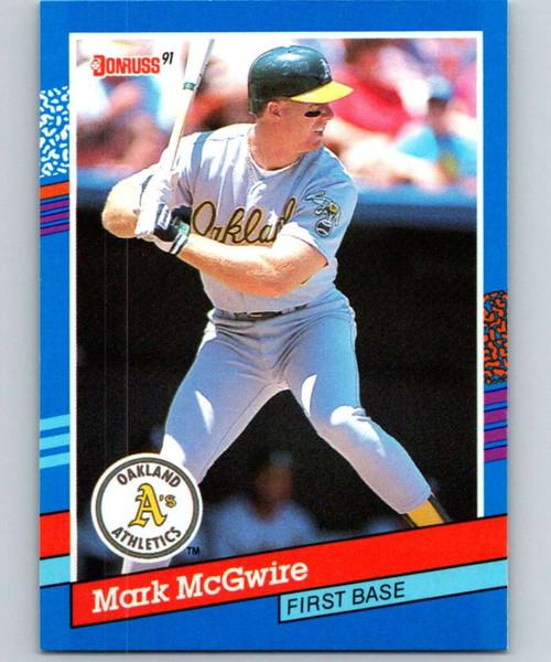 1991 Donruss #105 Mark McGwire VG Oakland Athletics