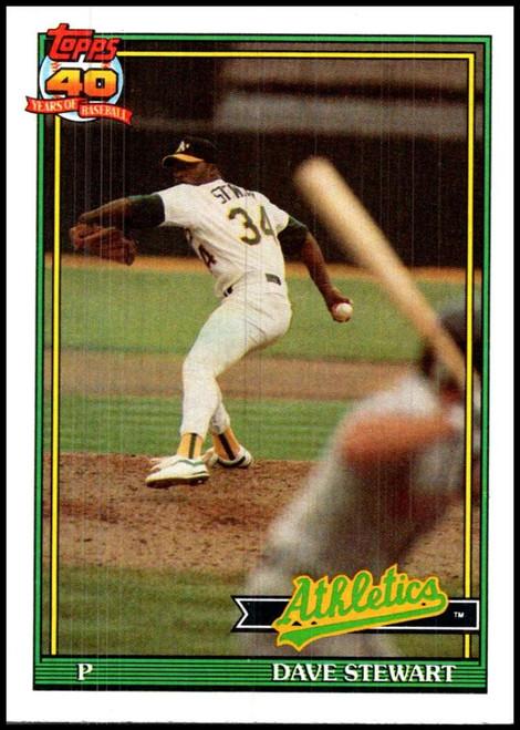 1991 Topps #580 Dave Stewart VG Oakland Athletics
