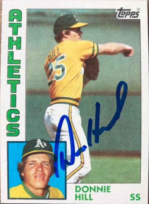 Donnie Hill Autographed 1984 Topps #265